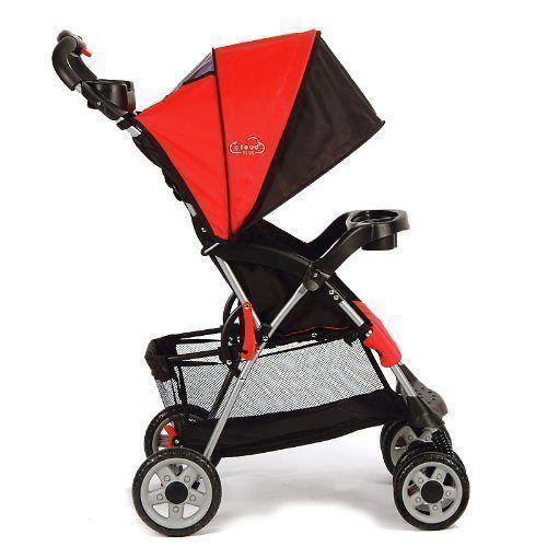 Kolcraft Cloud Plus Lightweight Stroller, Fire Red