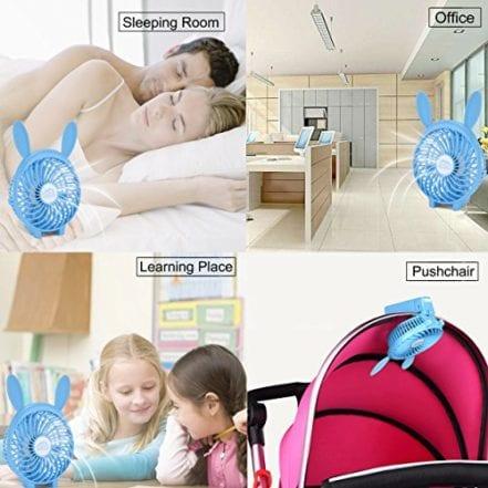 ESGOALS USB Mini Fan Portable Rechargeable Fan