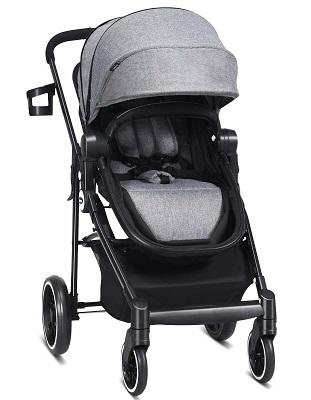 INFANS 2-in-1 Baby Stroller Bassinet Pram