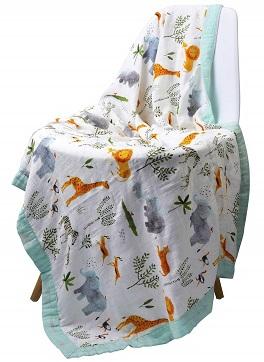 Little Jump Muslin Stroller Blanket
