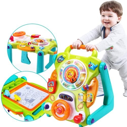 iPlay iLearn 3-in-1 Baby Sit to Stand Walker
