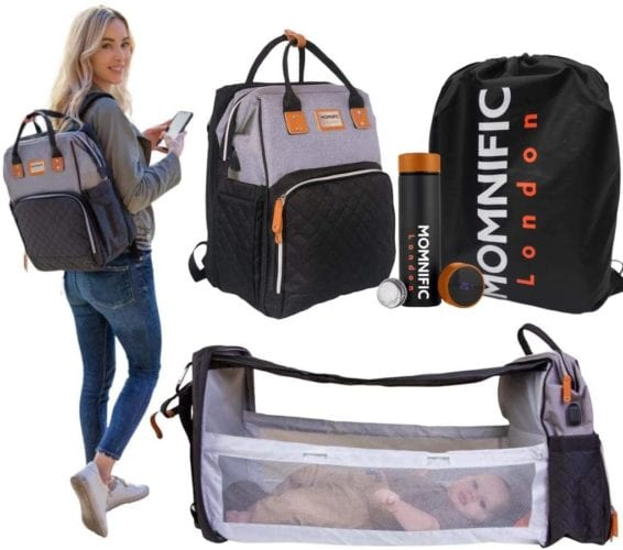 MOMNIFIC All-in-one Diaper Bag Backpack
