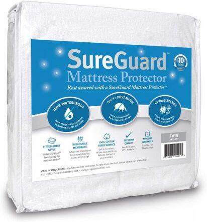 SureGuard Twin Size Mattress Protector