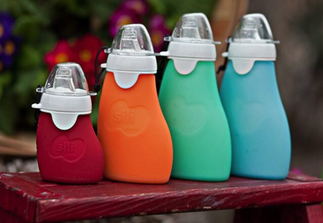 sili squeeze reusable food pouch