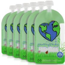 Healthy Planet Solutions Reusable Food Pouches