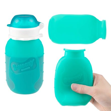 Aqua Squeasy Snacker Spill Proof Silicone Reusable Food Pouch